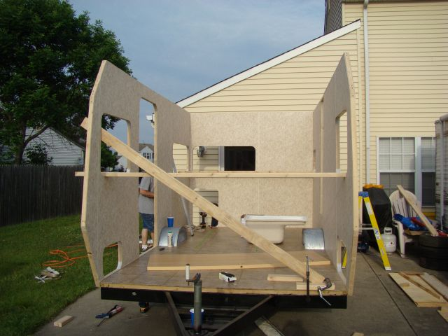 homemade enclosed trailer plans teardrops n tiny travel trailers view topic un named travel